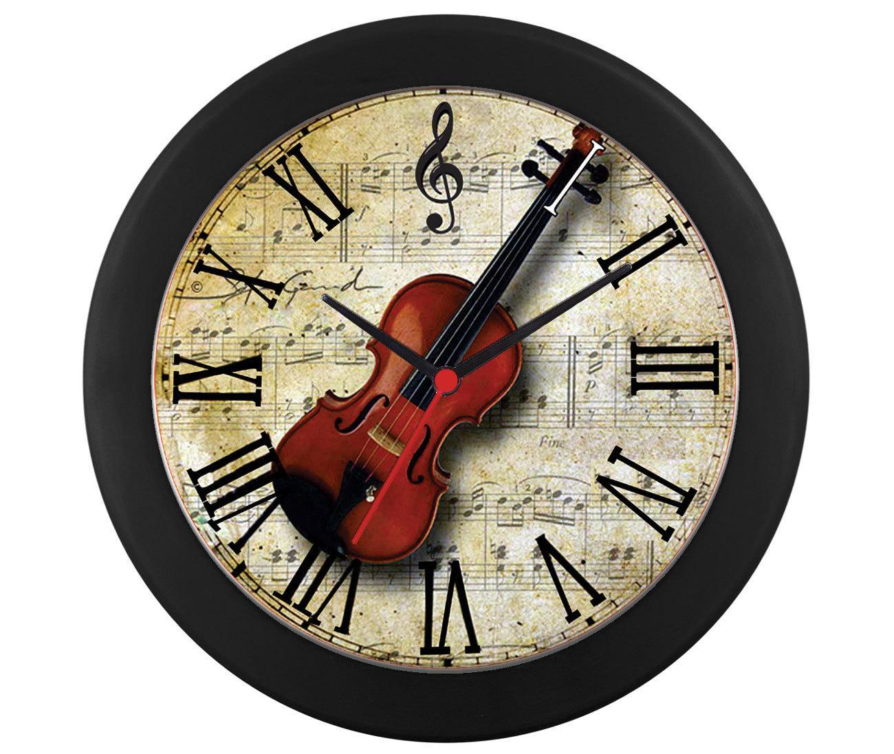 Relógio parede violino