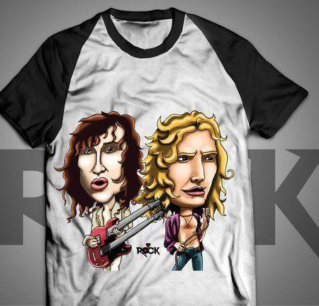 Robert Plant - Jimmy Page - Led Zeppelin - Camiseta Exclusiva
