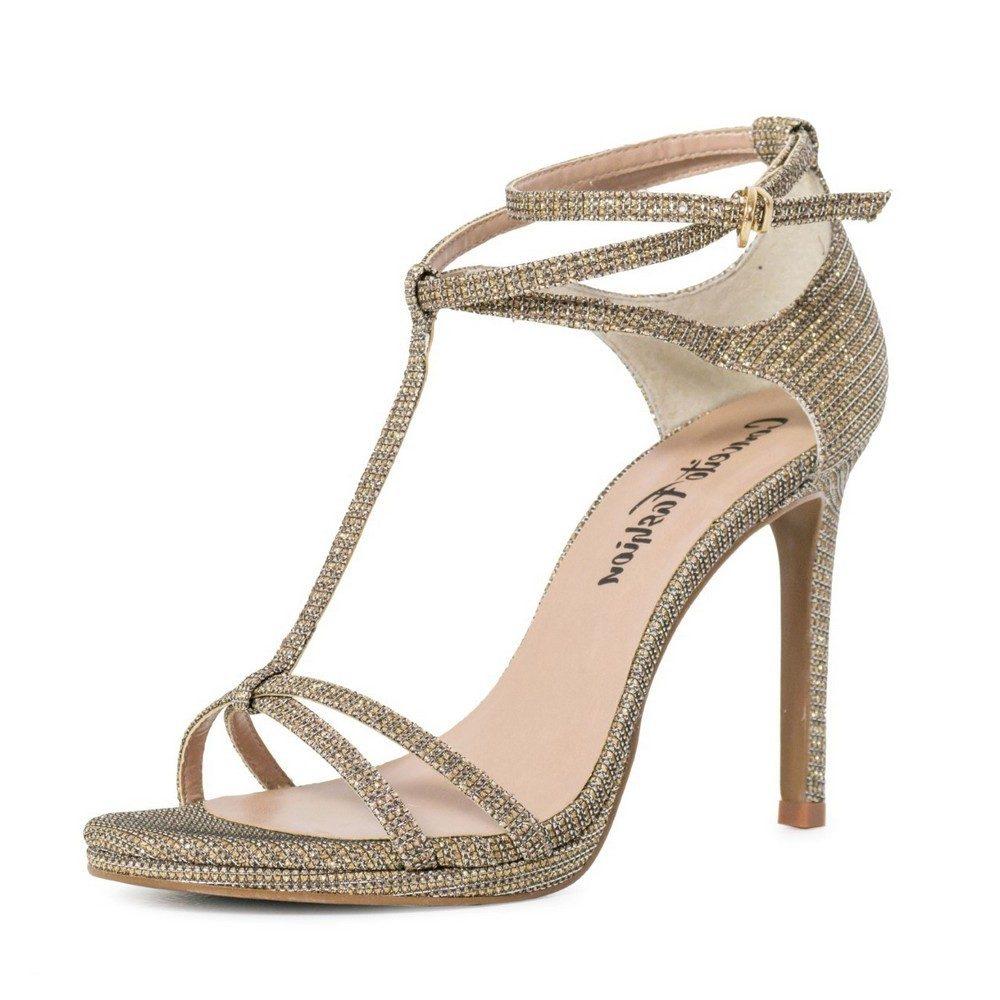 Sandália Conceito Fashion Glitter Bronze  – Conceito Fashion