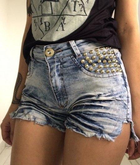 Short Jeans com Rebites - Psicose Store