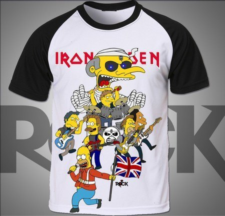 Simpsons vs Iron Maiden - Camiseta Exclusiva