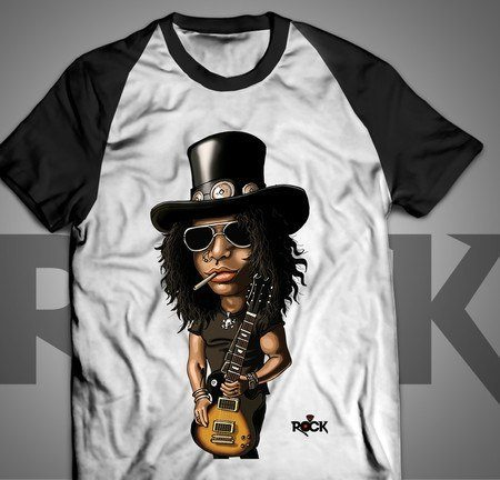 Slash - Camiseta Reglan Manga Preta Exclusiva