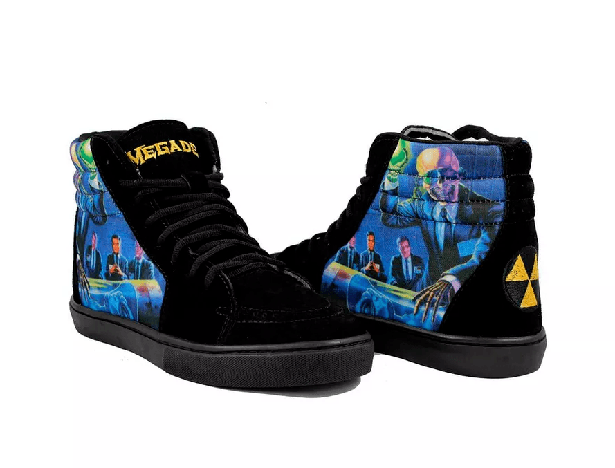 Tênis BandShoes Masculino Cano Alto Megadeth Rust in Peace