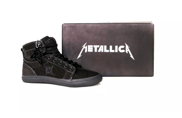 Tênis BandShoes Masculino Cano Alto Preto Metallica Black