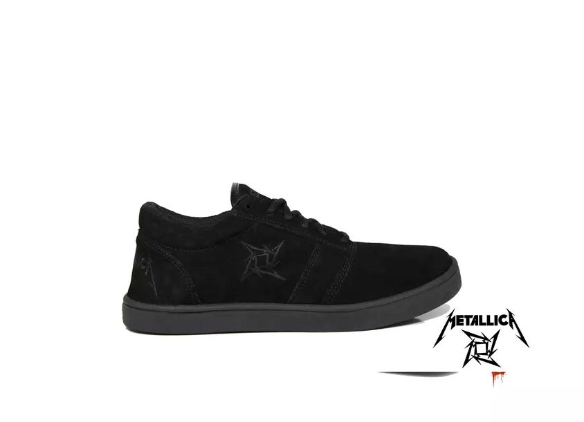 Tênis Masculino Metallica Cano Baixo Preto