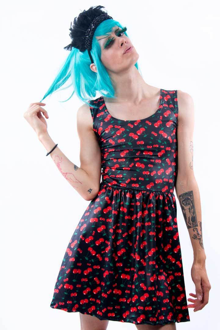 Vestido Cereja Rodado