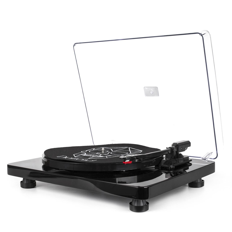 Vitrola Toca Discos Diamond Preta - Agulha Japonesa com software de gravação para MP3 - Echo Vintage