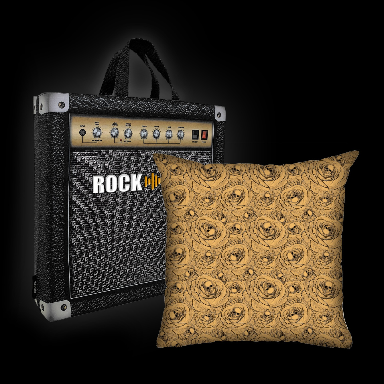 Rock Use - Skulls & Roses (Bege)