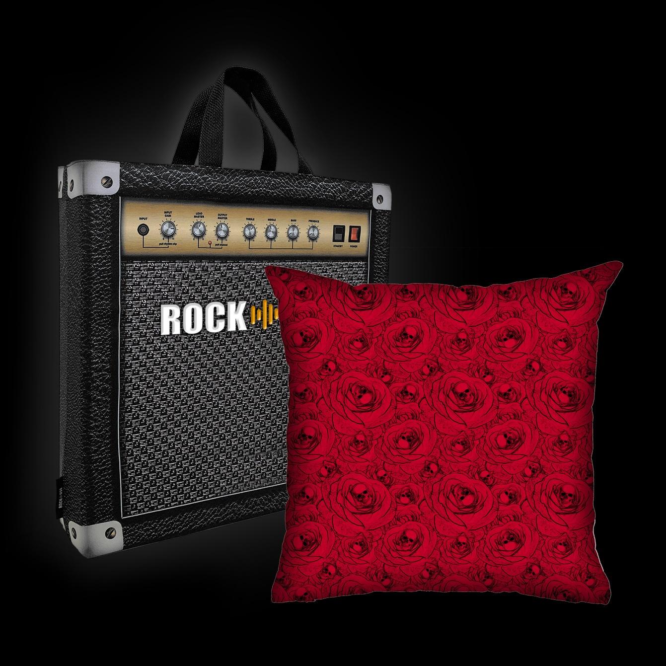 Rock Use - Skulls & Roses (Vermelho)