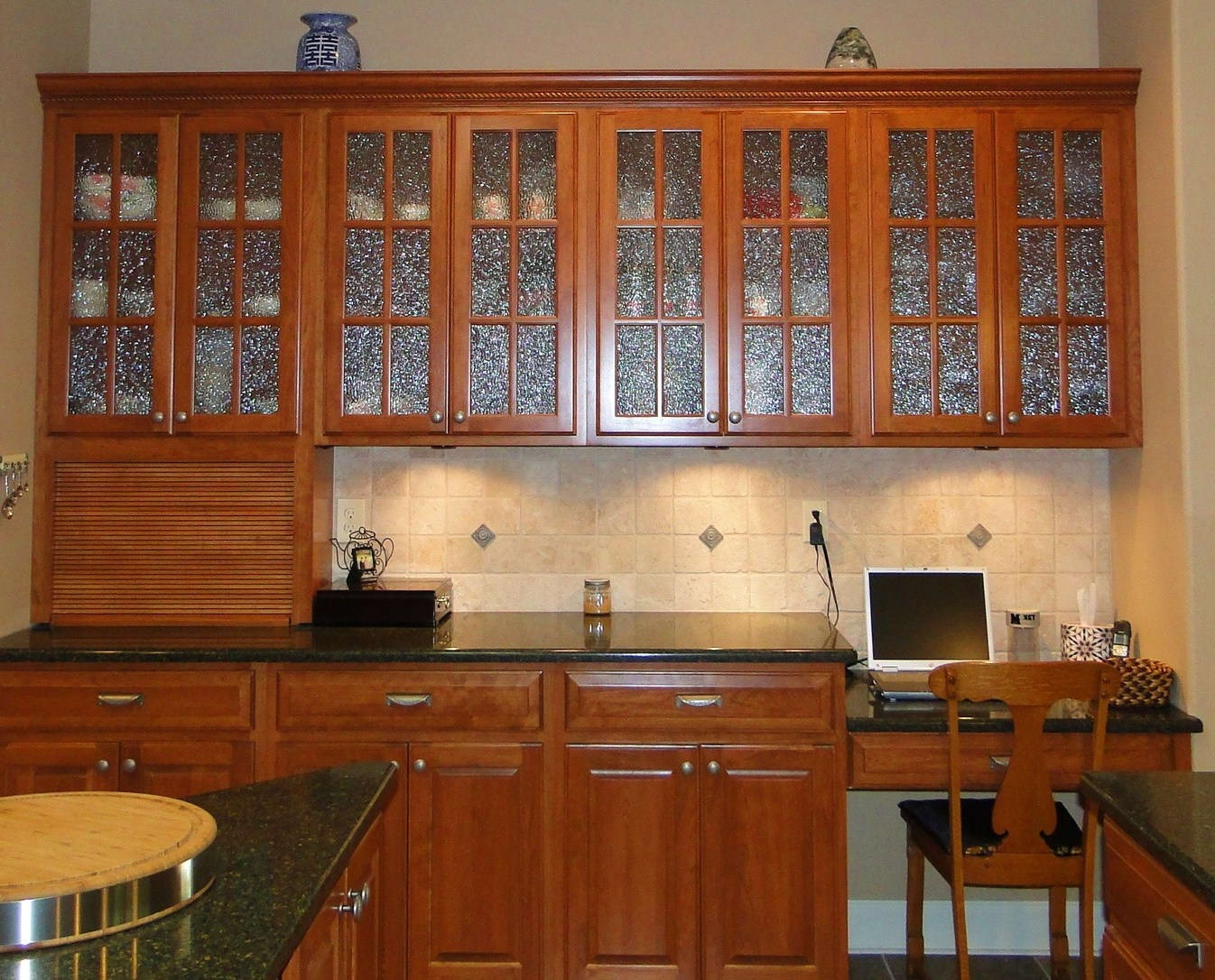 Black Glass Inserts For Kitchen Cabinets