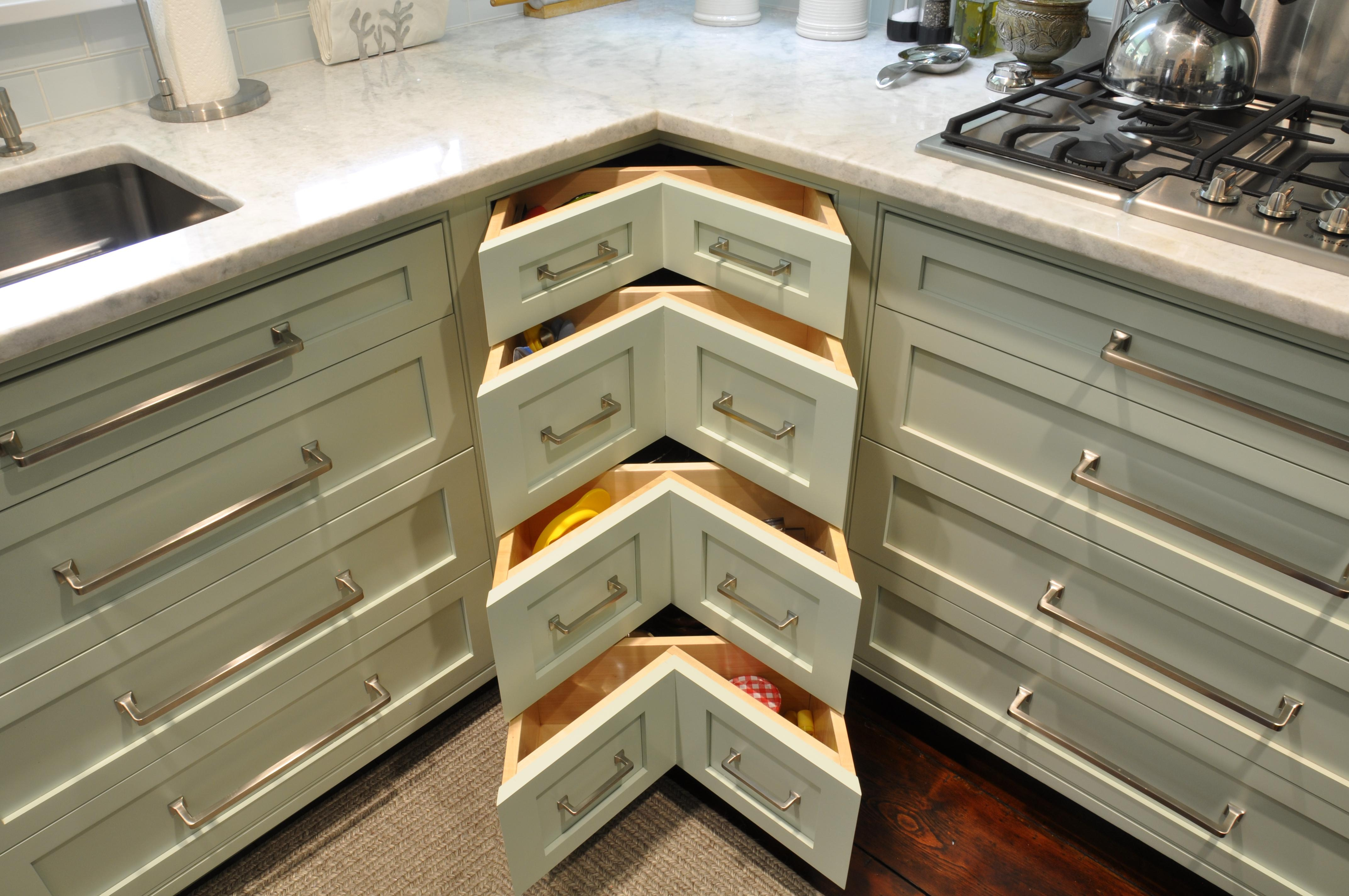 Corner Drawers For Kitchen Cabinets
