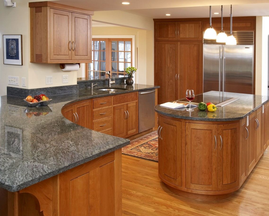 Countertops For Oak Kitchen Cabinets