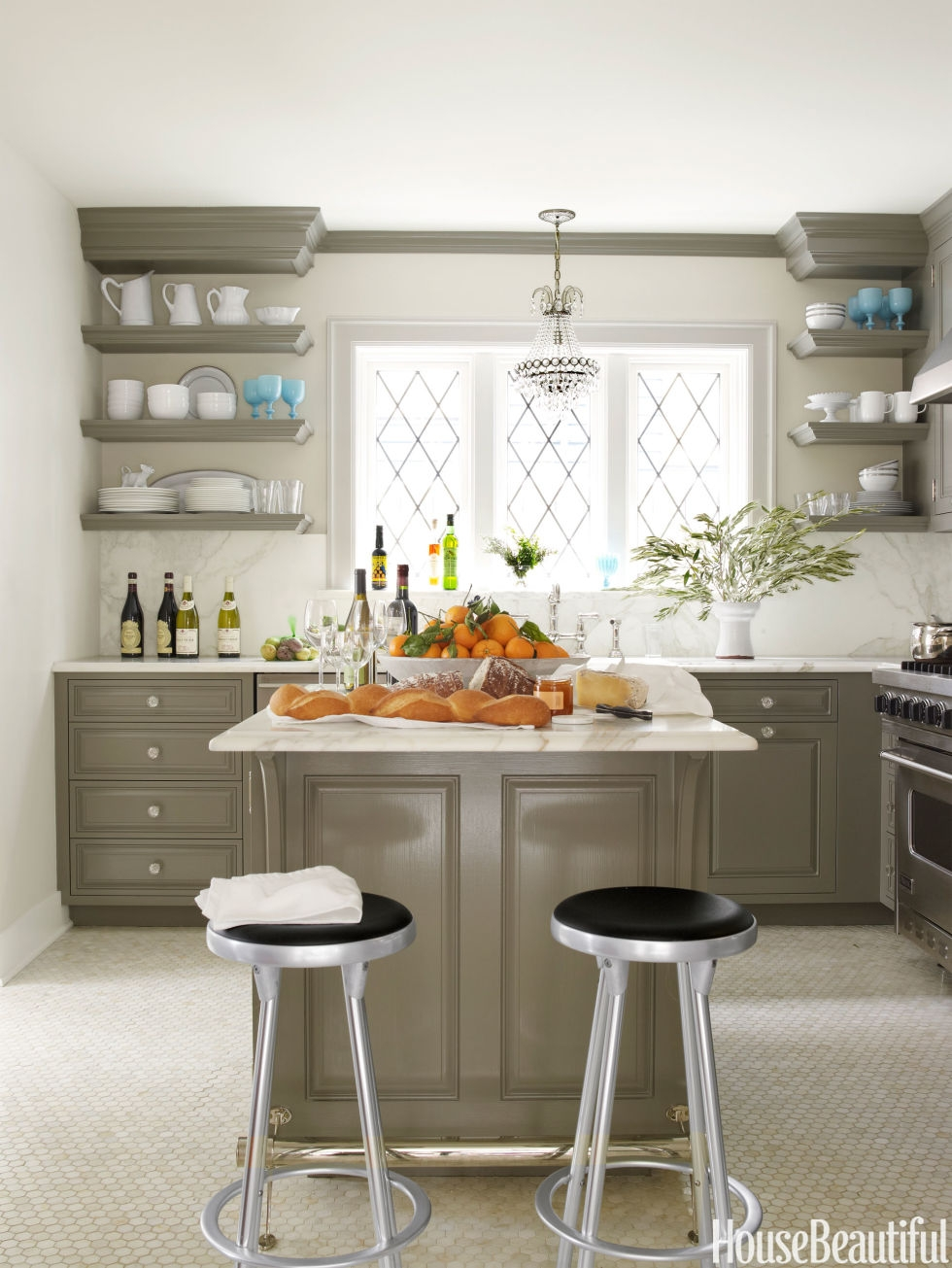 Gray Kitchen Cabinets Wall Color