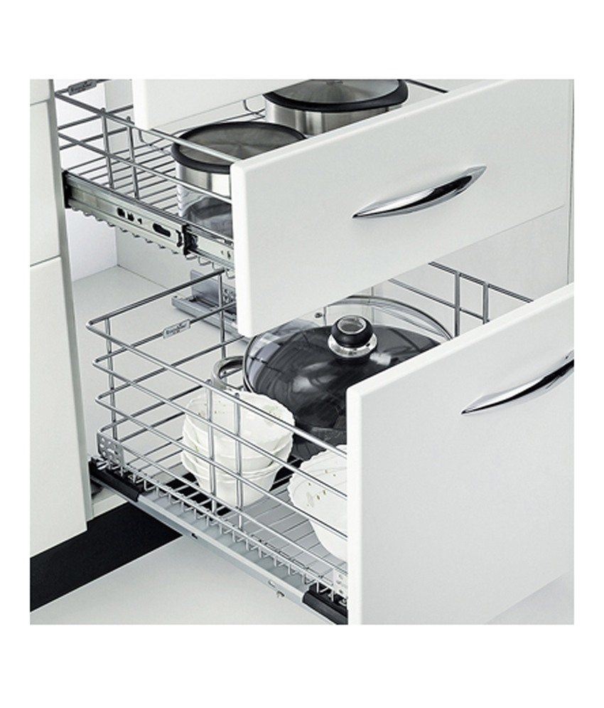 Permalink to Kitchen Cabinet Baskets Stainless Steel