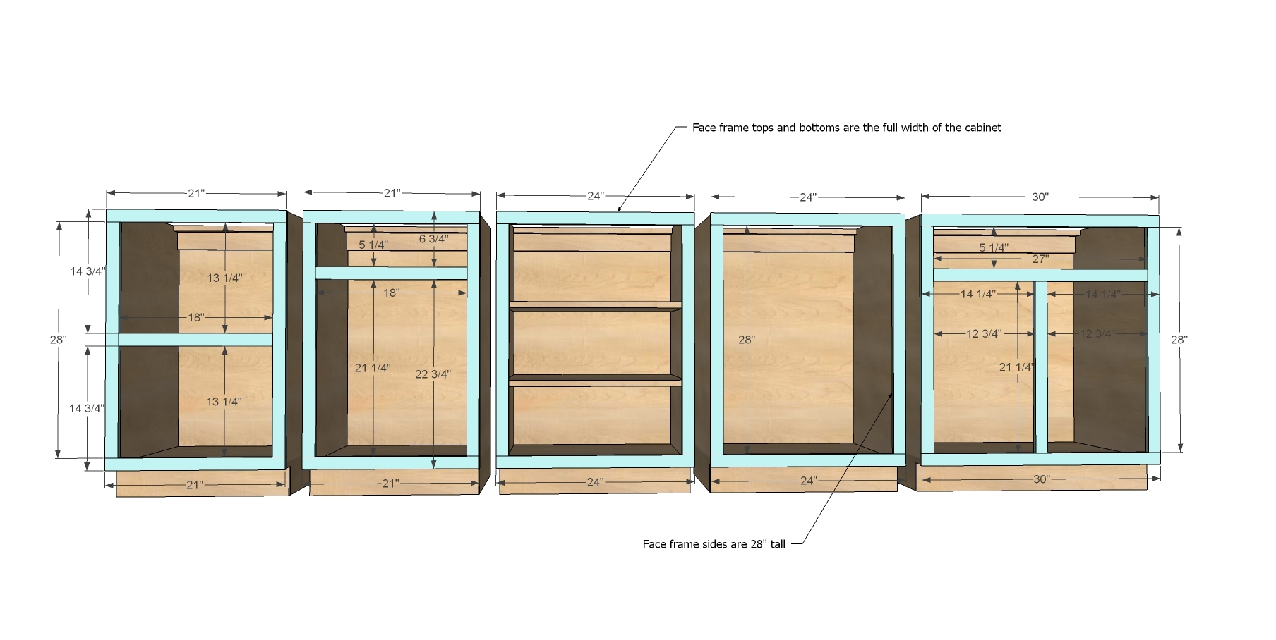 Kitchen Cabinet Frame Construction