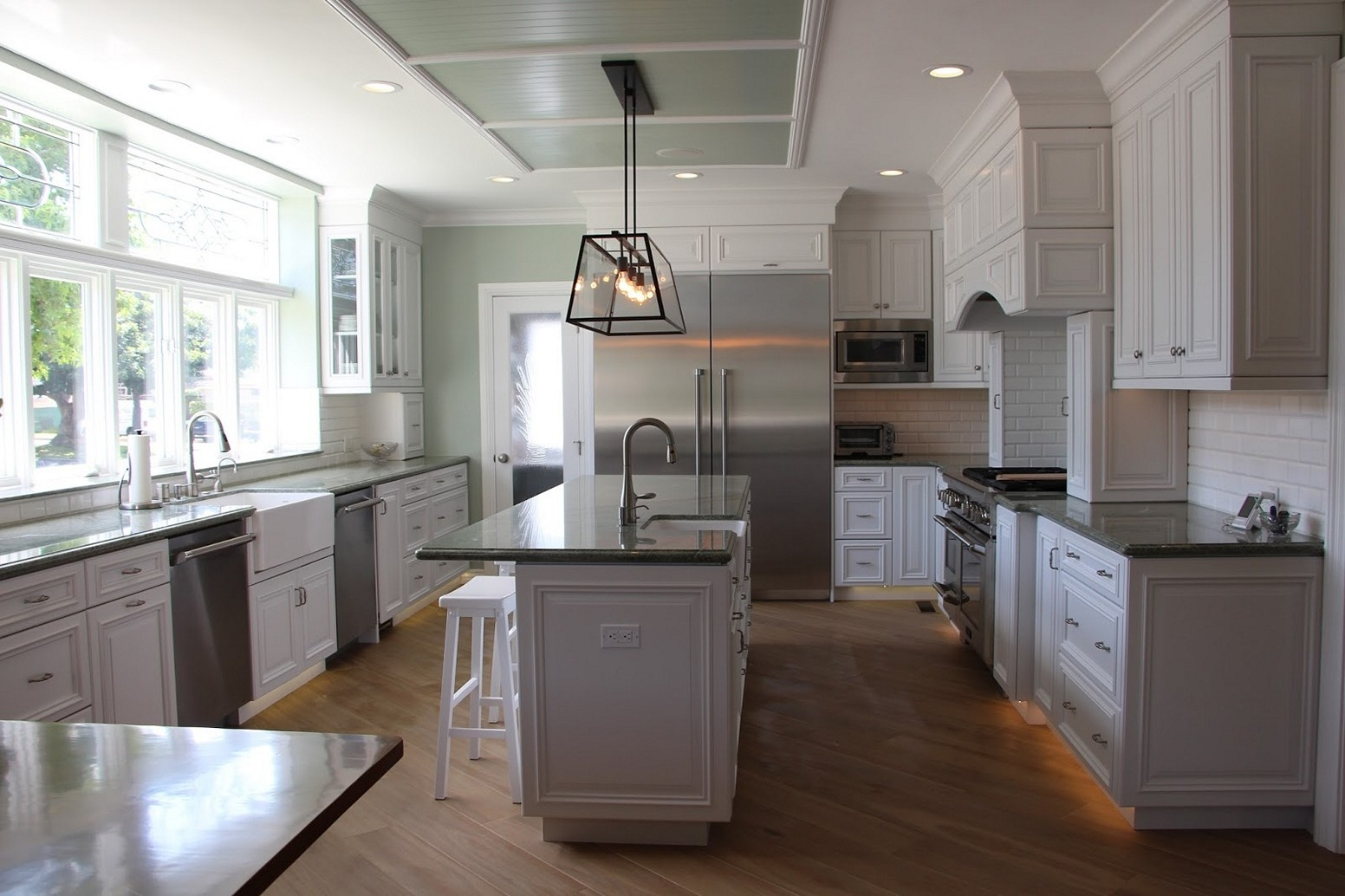 Permalink to Light Grey Kitchen Cabinets With Dark Countertops
