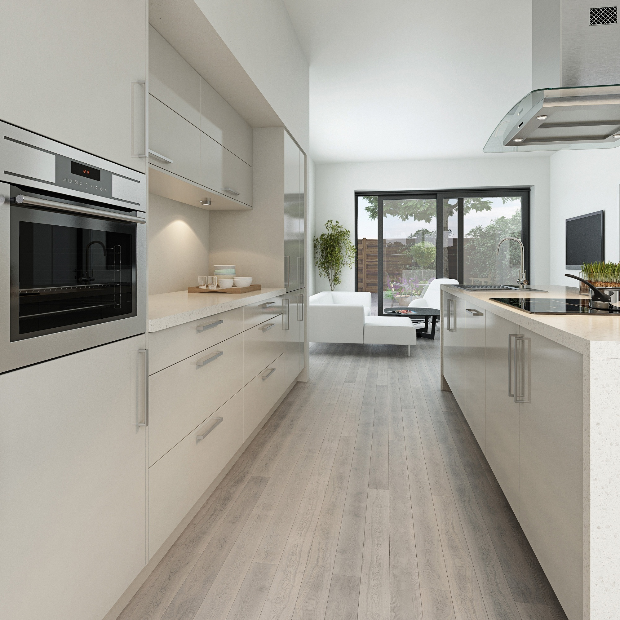 Modern Grey Gloss Kitchen Cabinetsmaida gloss light grey is one of our definitive modern kitchens