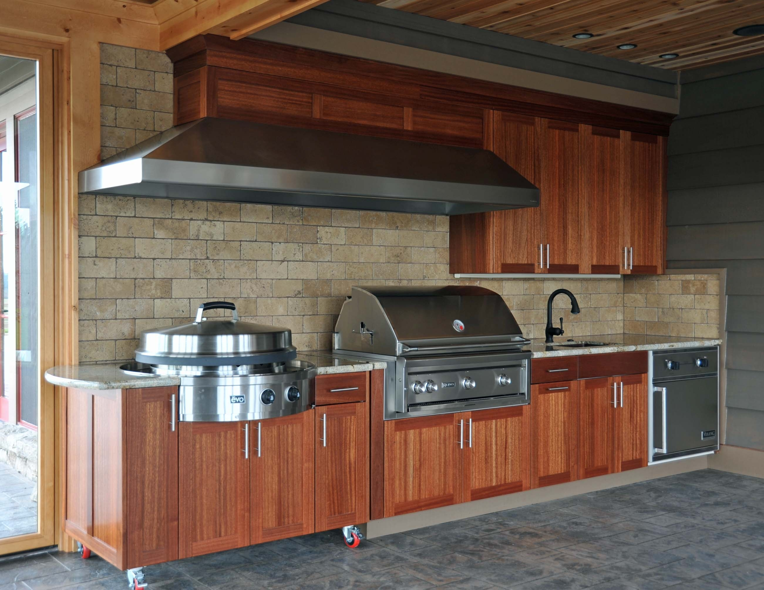 Outdoor Kitchen Grill Cabinets