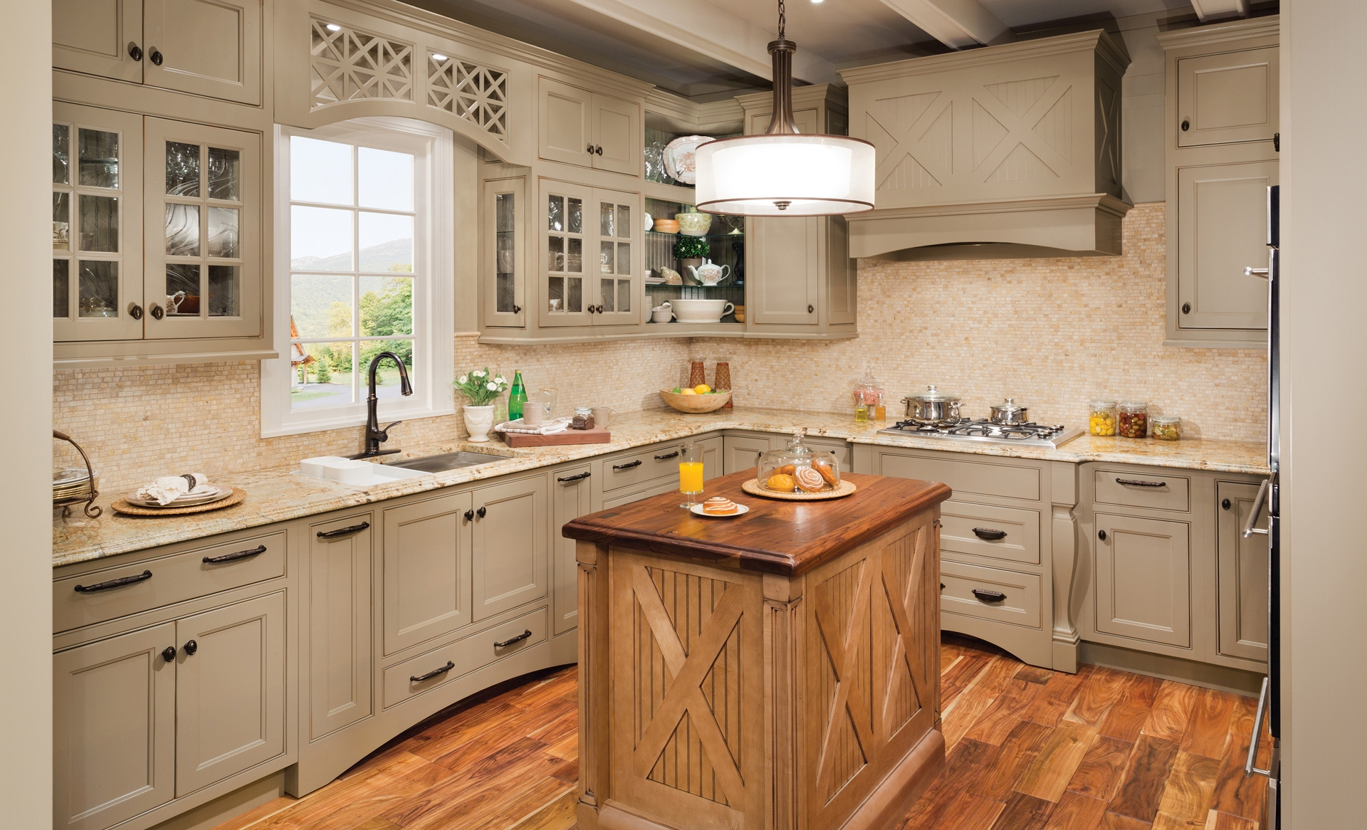 Pickled Wood Kitchen Cabinets