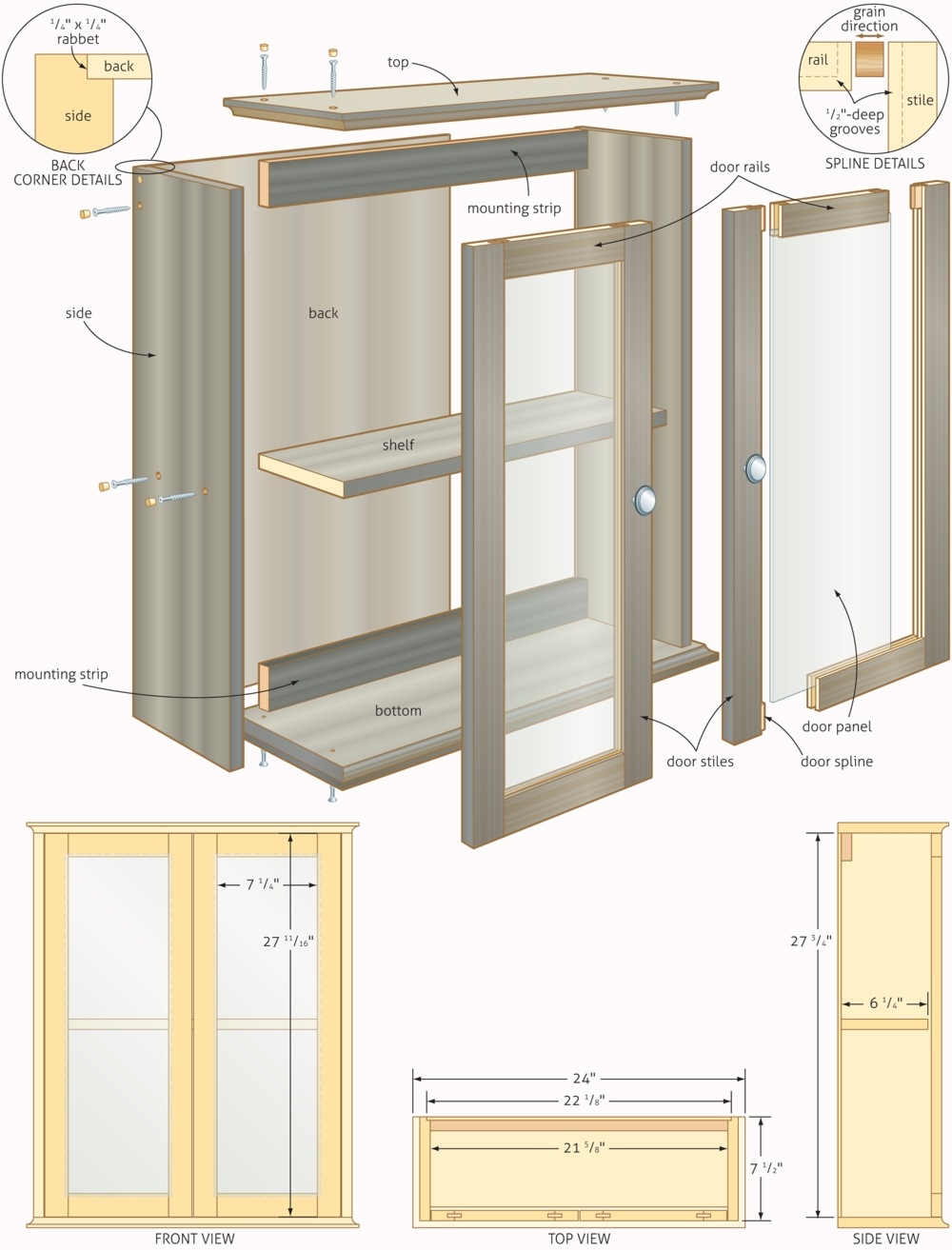 Permalink to Plans For Kitchen Wall Cabinets