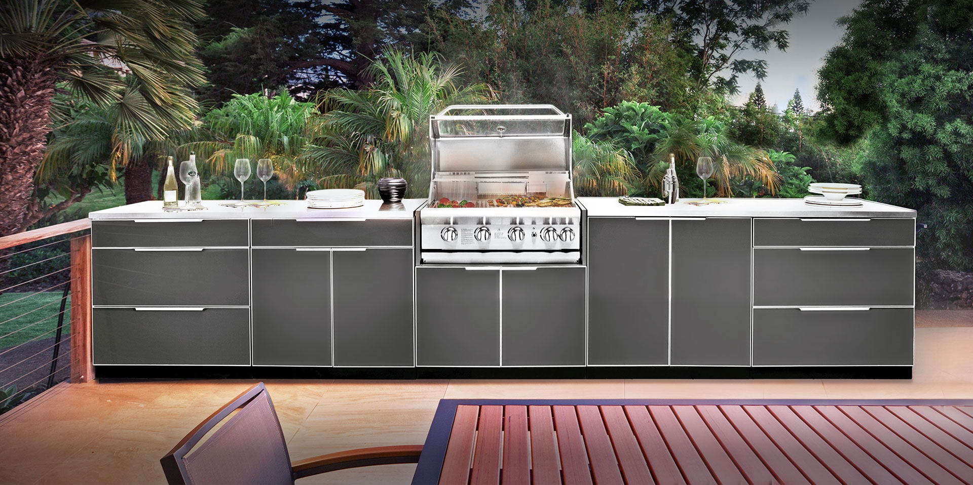 Powder Coated Outdoor Kitchen Cabinets