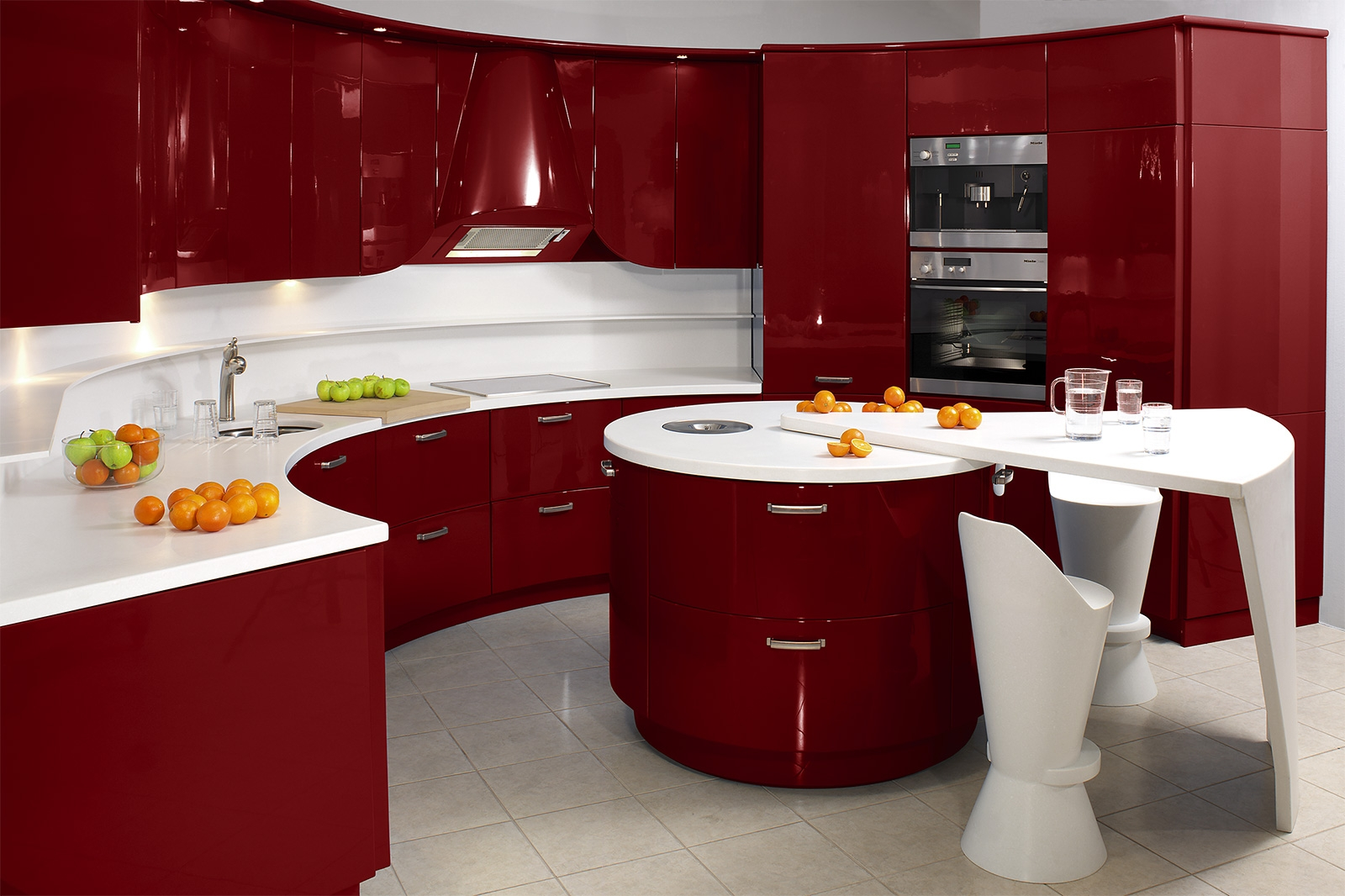 Permalink to Red Enamel Kitchen Cabinets