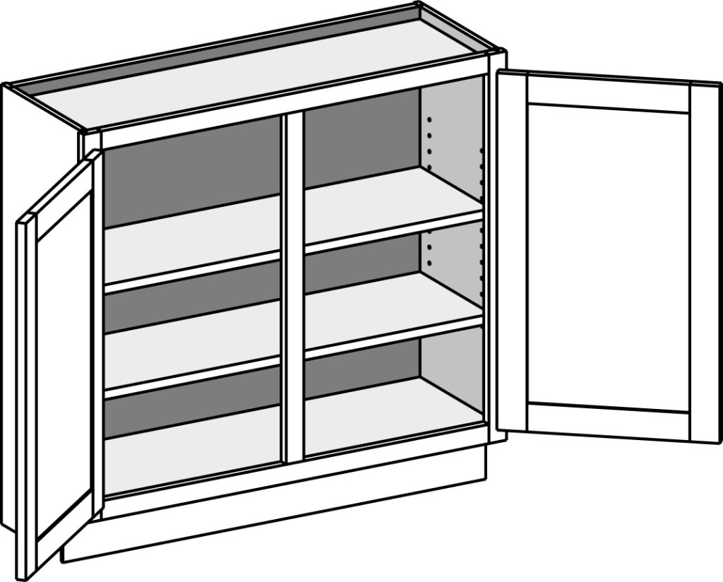 Shallow Lower Kitchen Cabinets