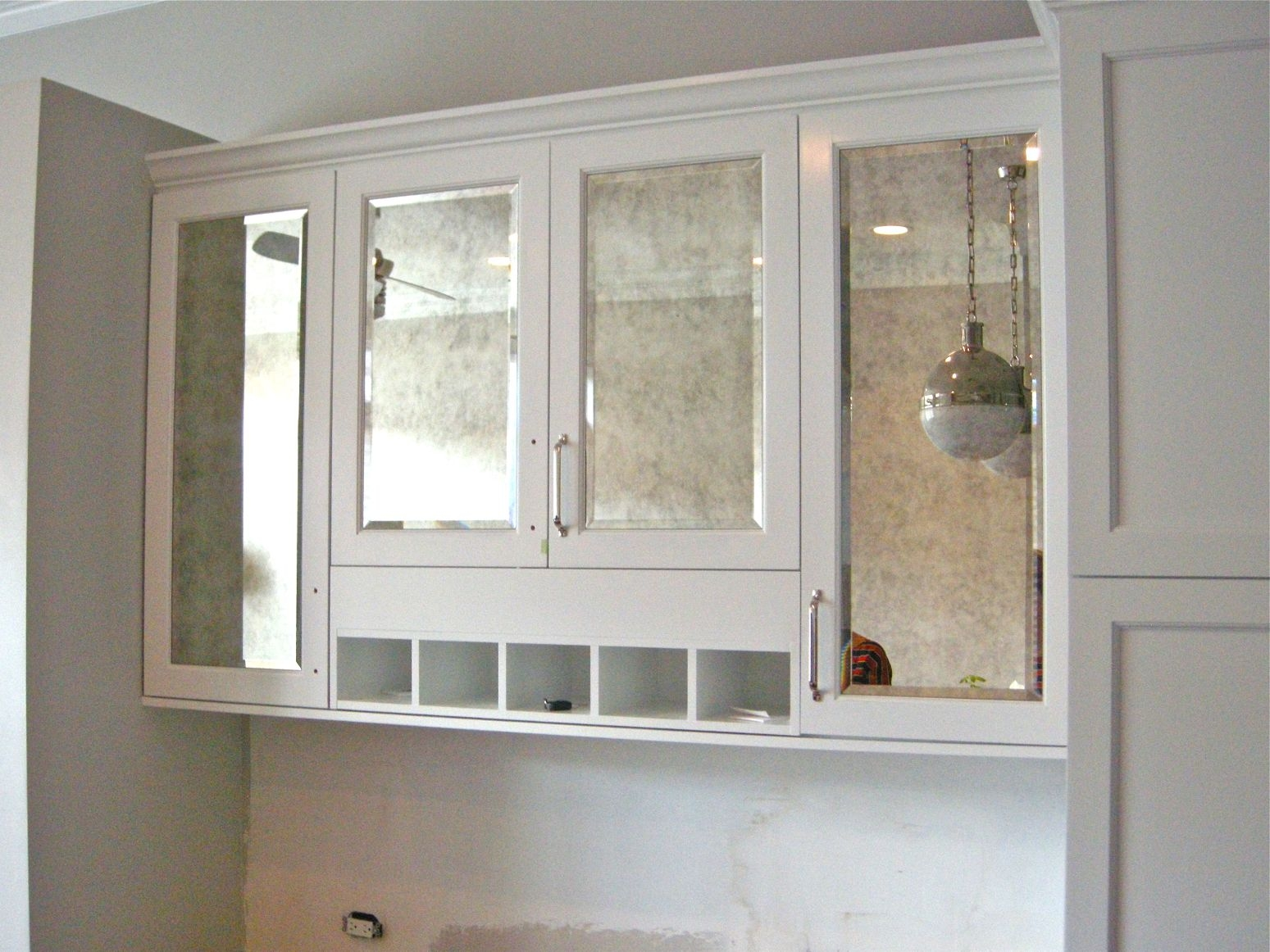 Antique Mirrored Kitchen Cabinets