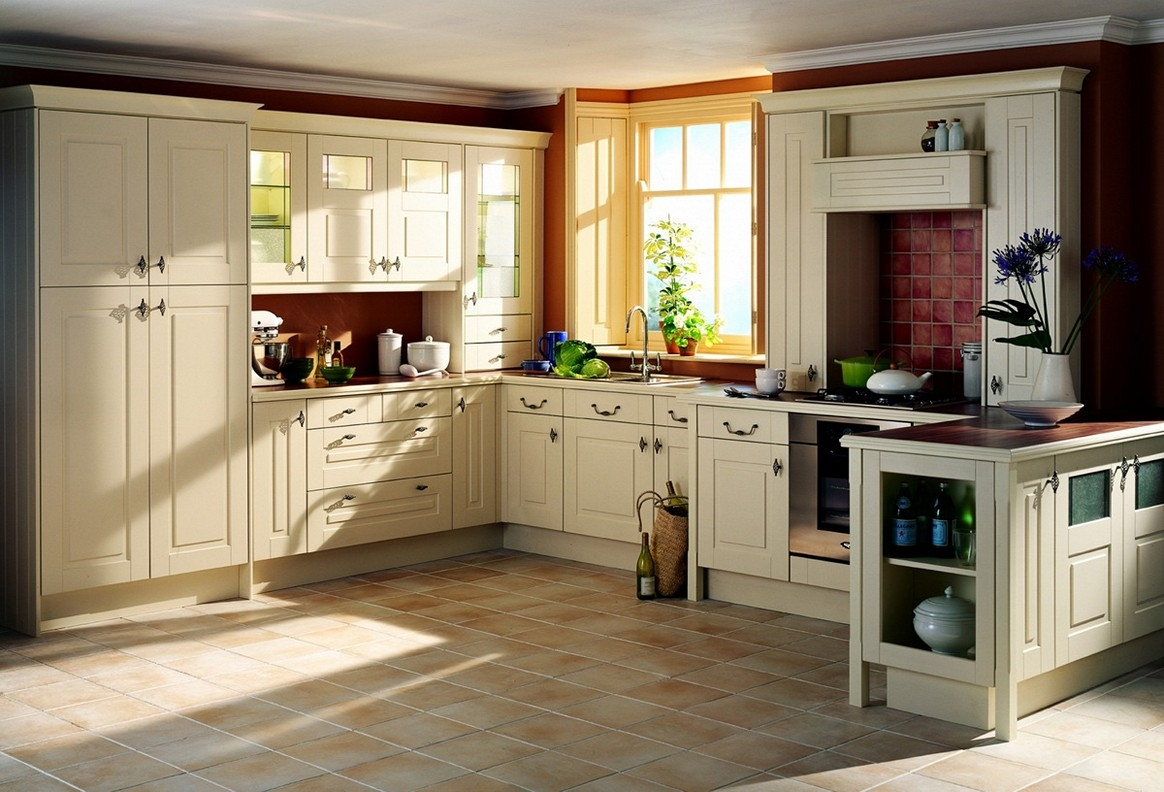 Cream Kitchen Cabinets With Light Floors
