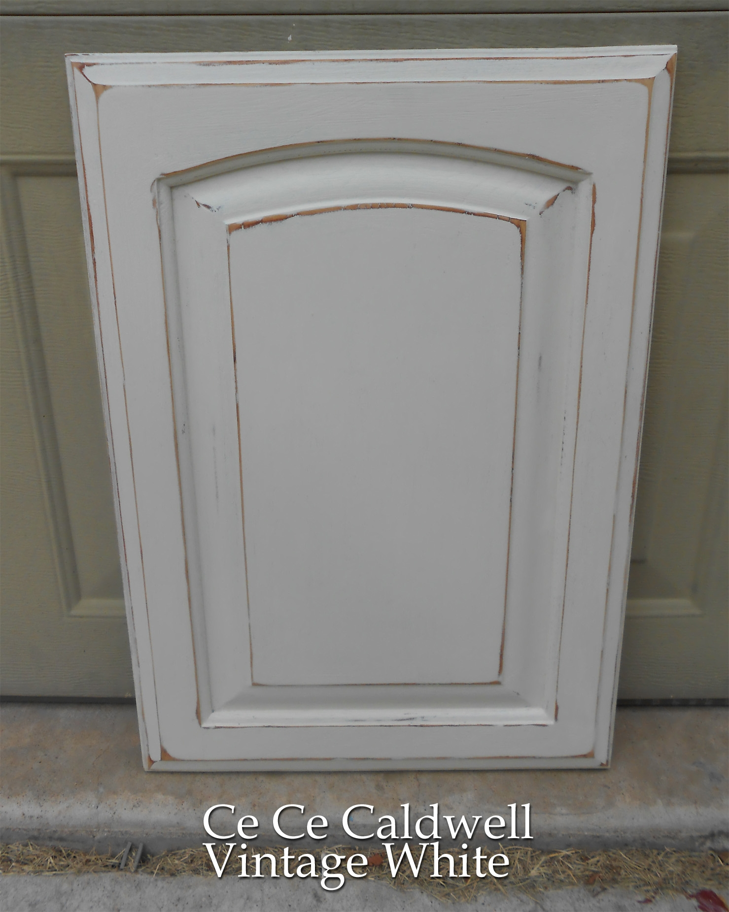 Distressed White Kitchen Cabinets