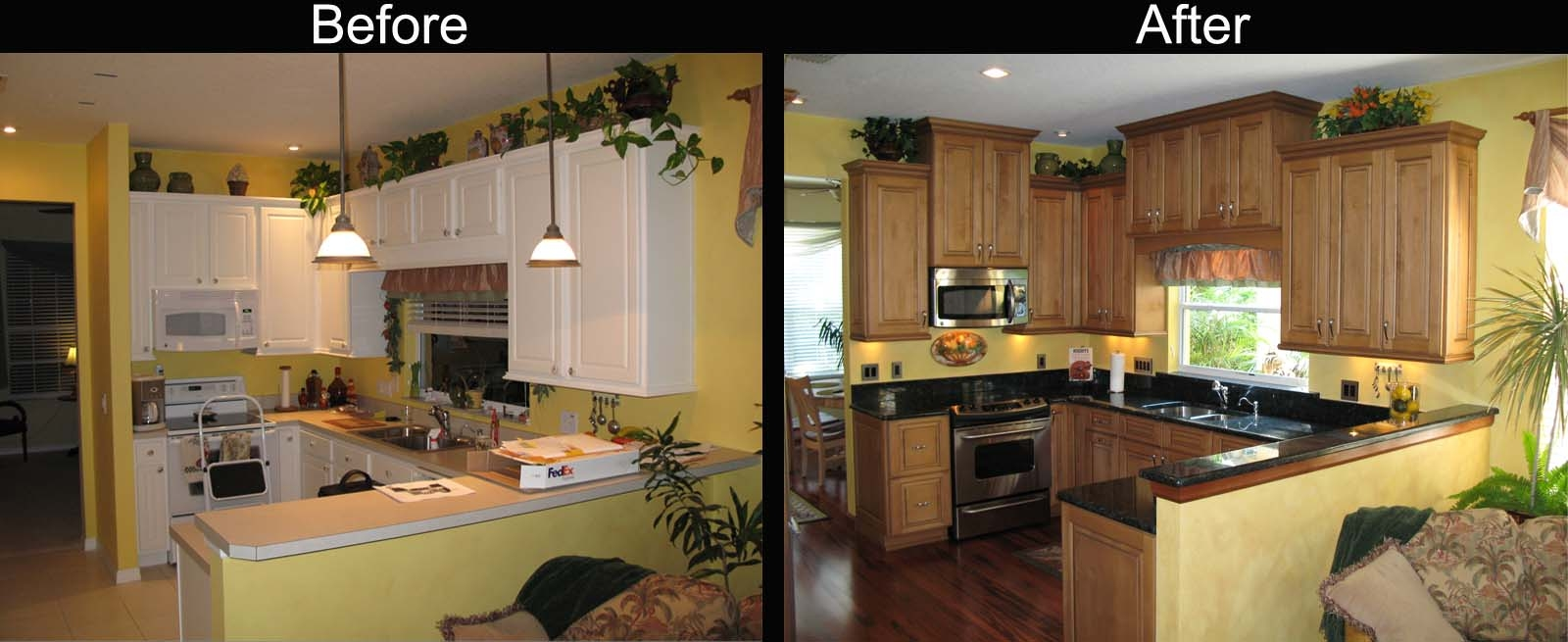 Kitchen Cabinets Remodel Before And After