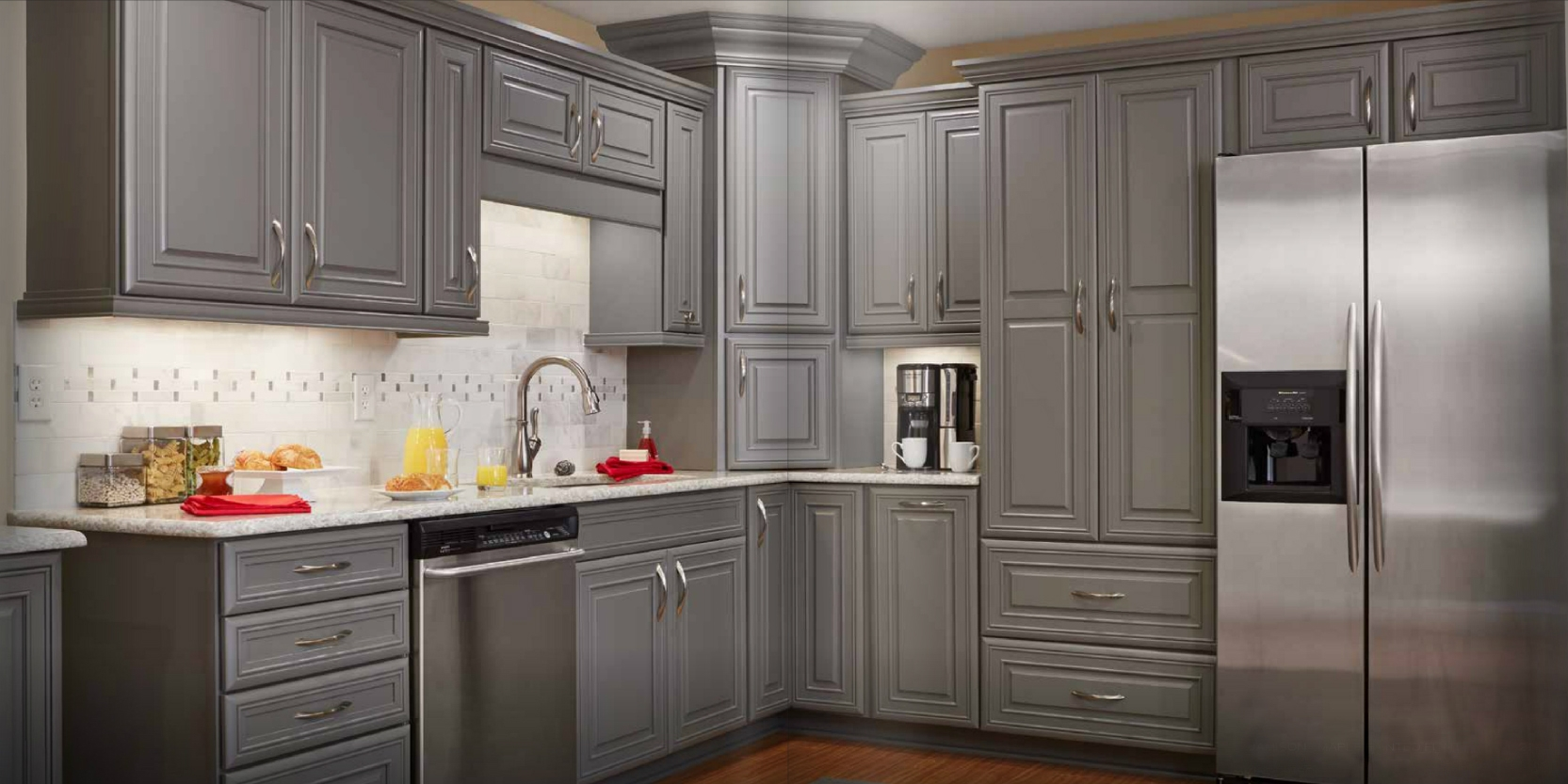 Kitchen Cabinets Stained Grey