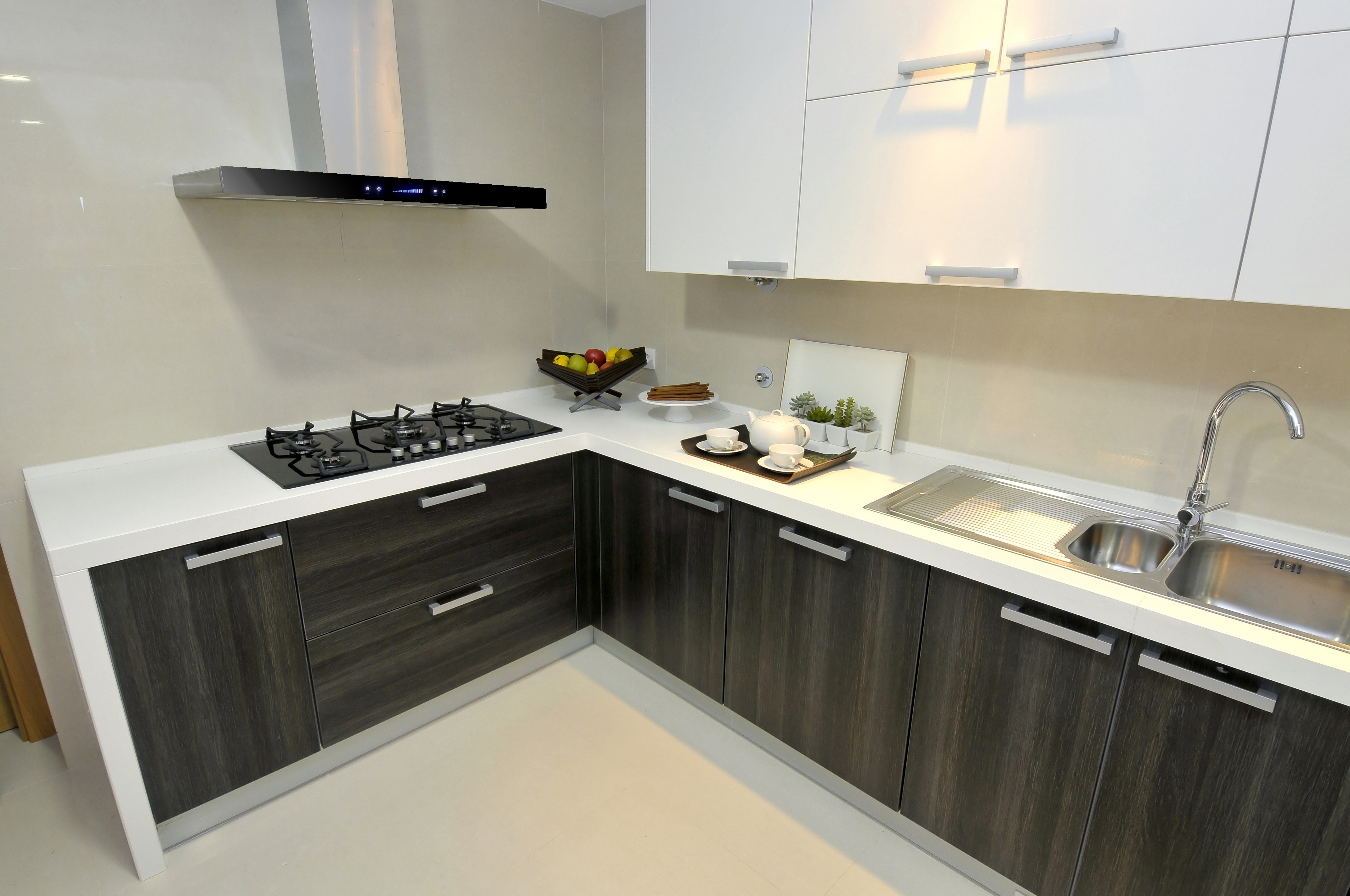 Kitchen Cabinets White Formica