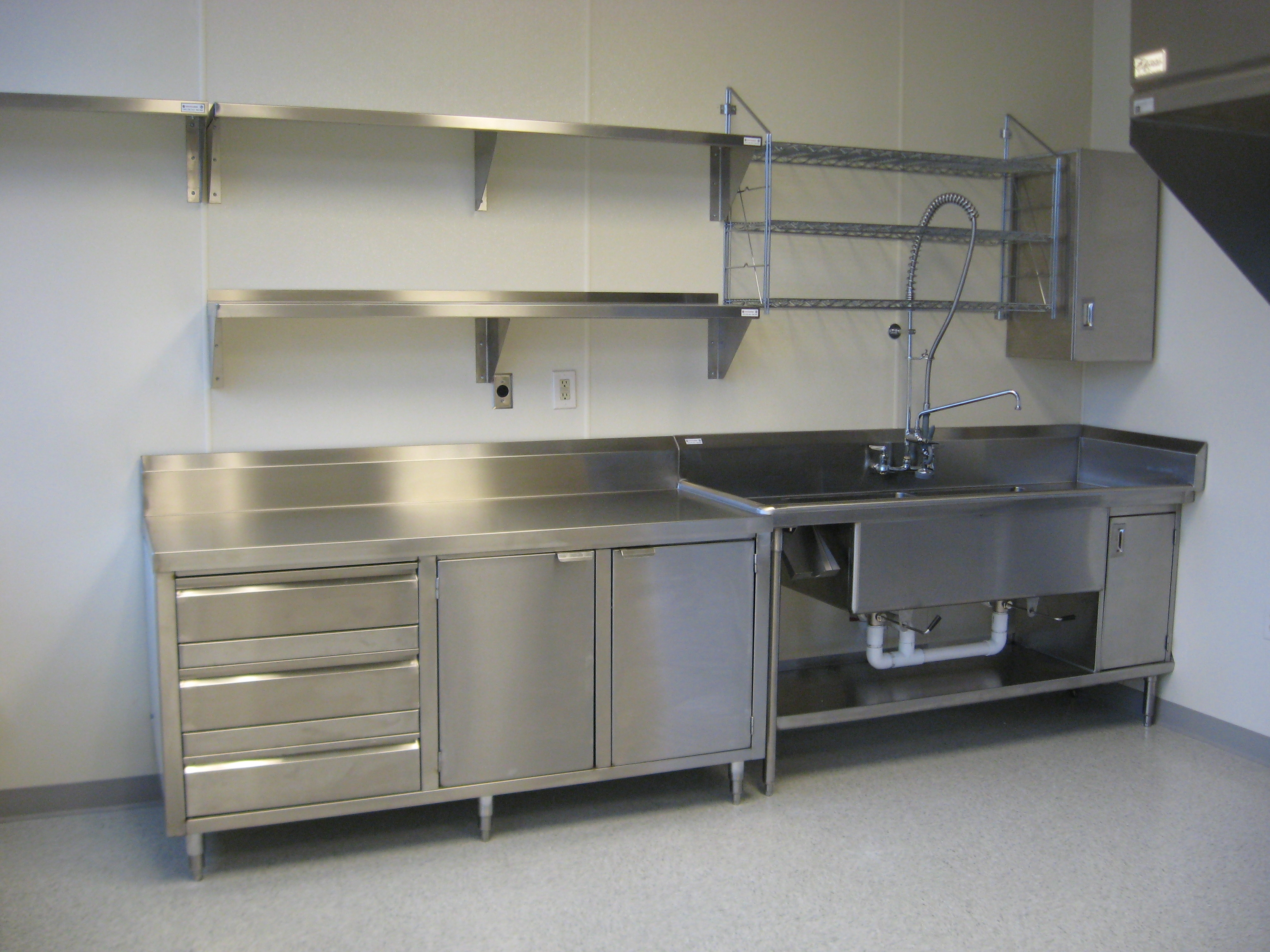Metal Shelving For Kitchen Cabinets