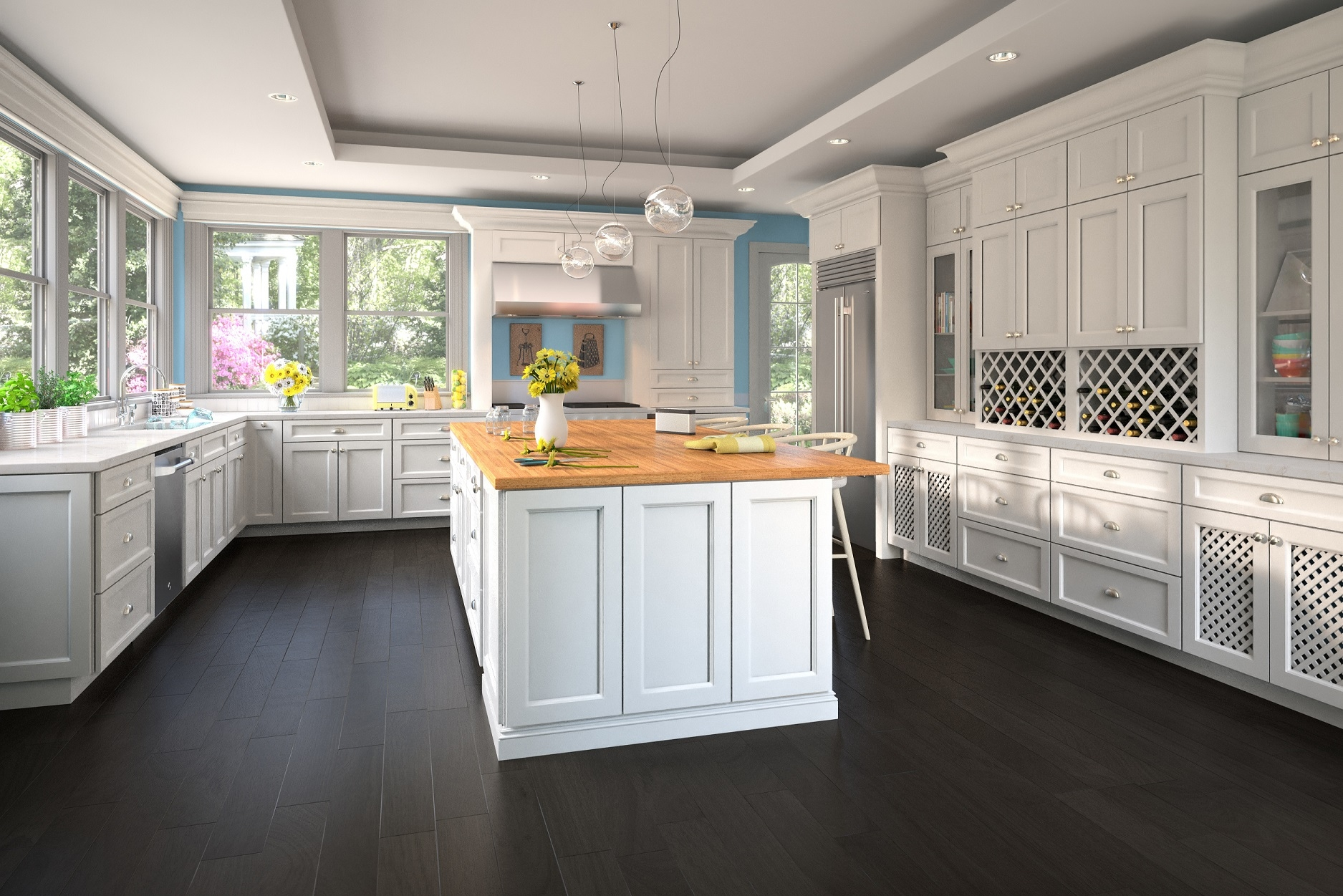 Newport White Kitchen Cabinets