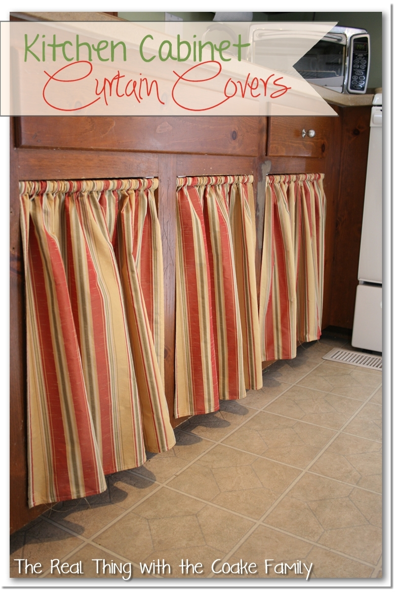 Open Kitchen Cabinets With Curtains