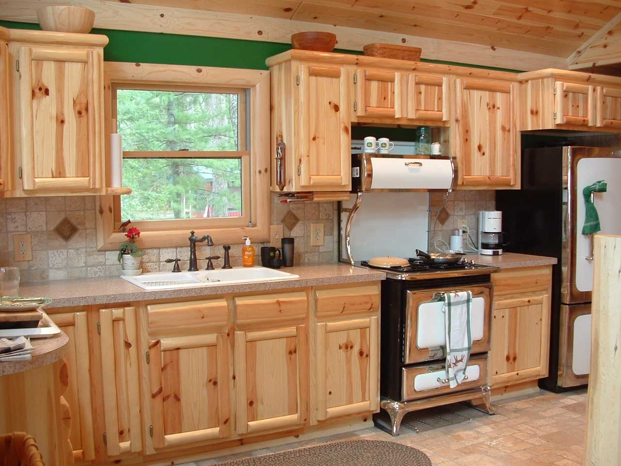 Pine Wood Cabinets For Kitchen