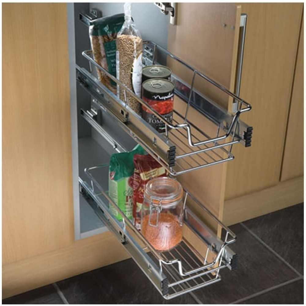 Sliding Wire Baskets For Kitchen Cabinets