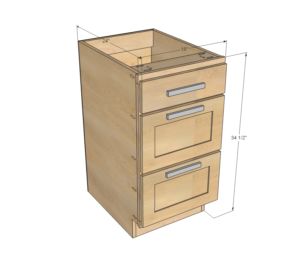 Standard Size Of Kitchen Cabinet Drawers