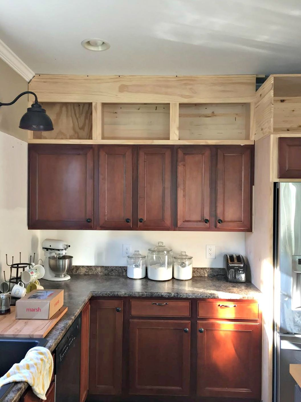 Adding Additional Kitchen Cabinetsbuilding cabinets up to the ceiling from thrifty decor chick