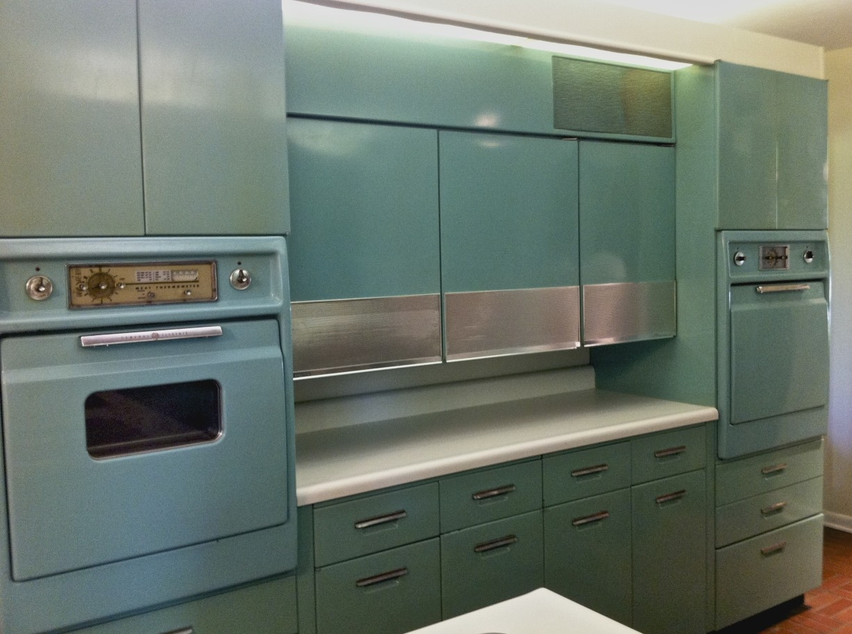 Antique Metal Cabinets For The Kitchen
