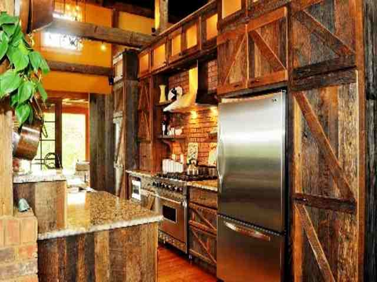Barn Door Kitchen Cabinets