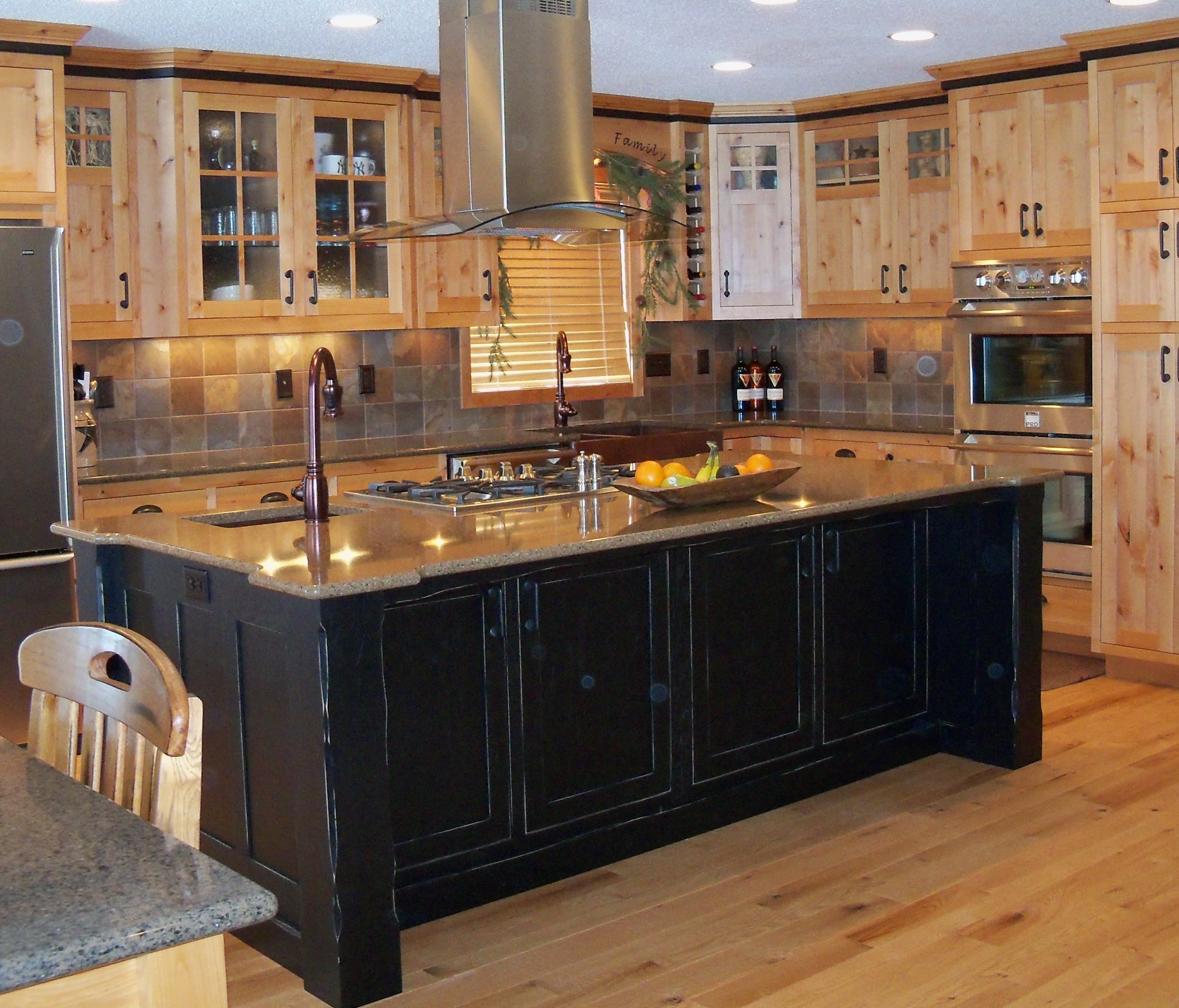Black Cabinet Kitchen Island
