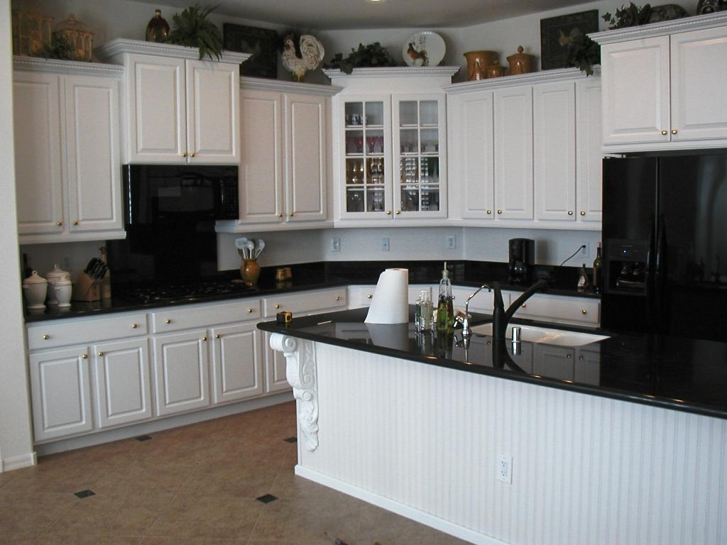 Blue Kitchen Cabinets With Black Appliances