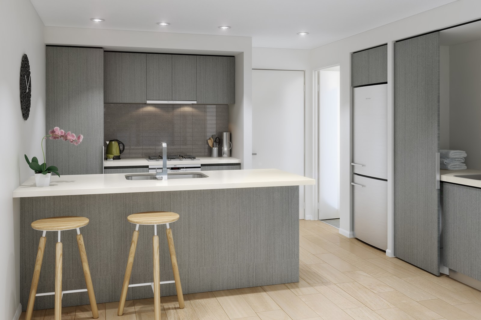 Color Schemes For Grey Kitchen Cabinets