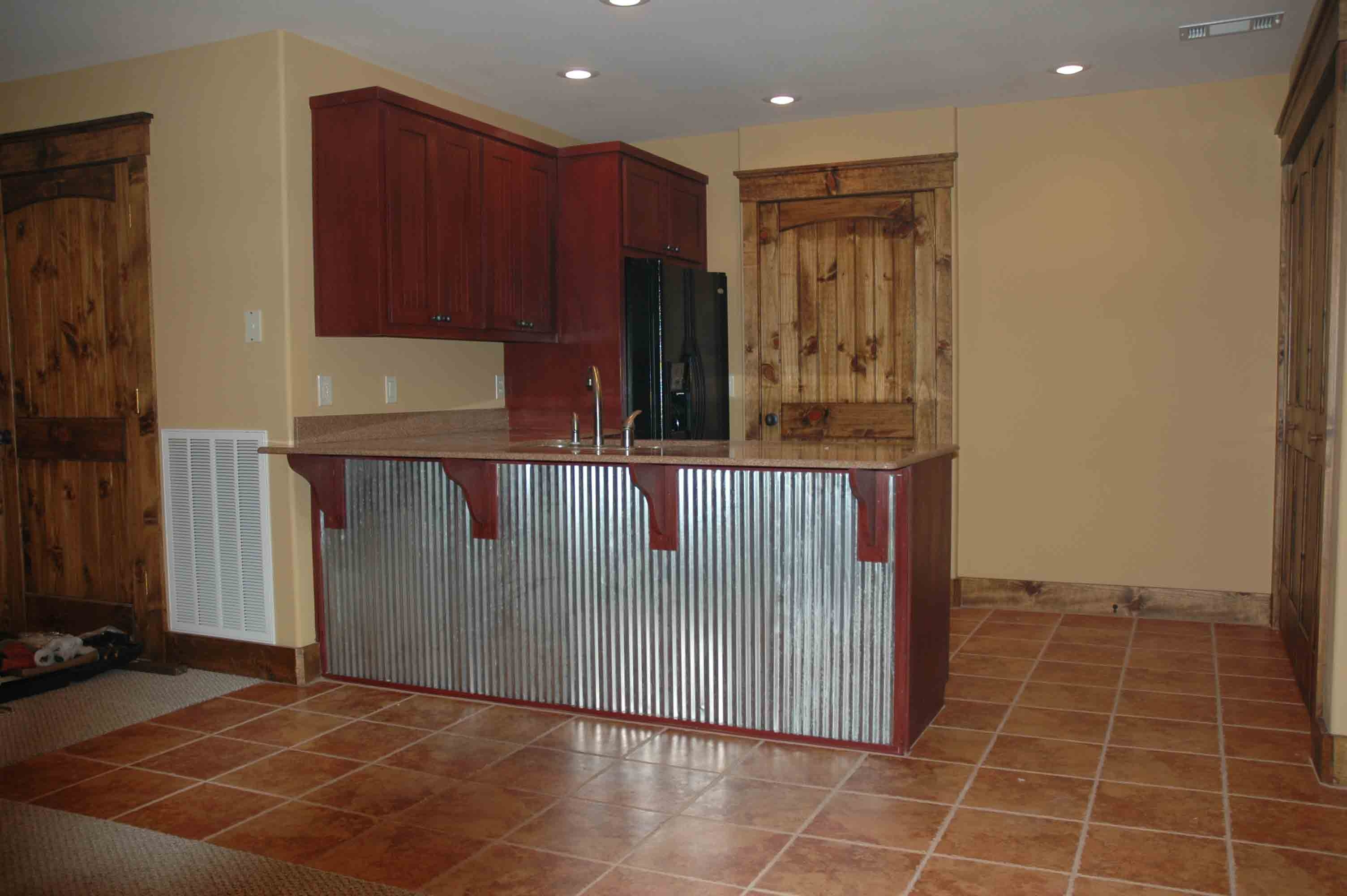 Corrugated Metal Kitchen Cabinet Doors | Kitchen Cabinet