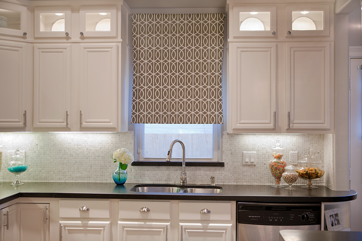 Curtains Above Kitchen Cabinets