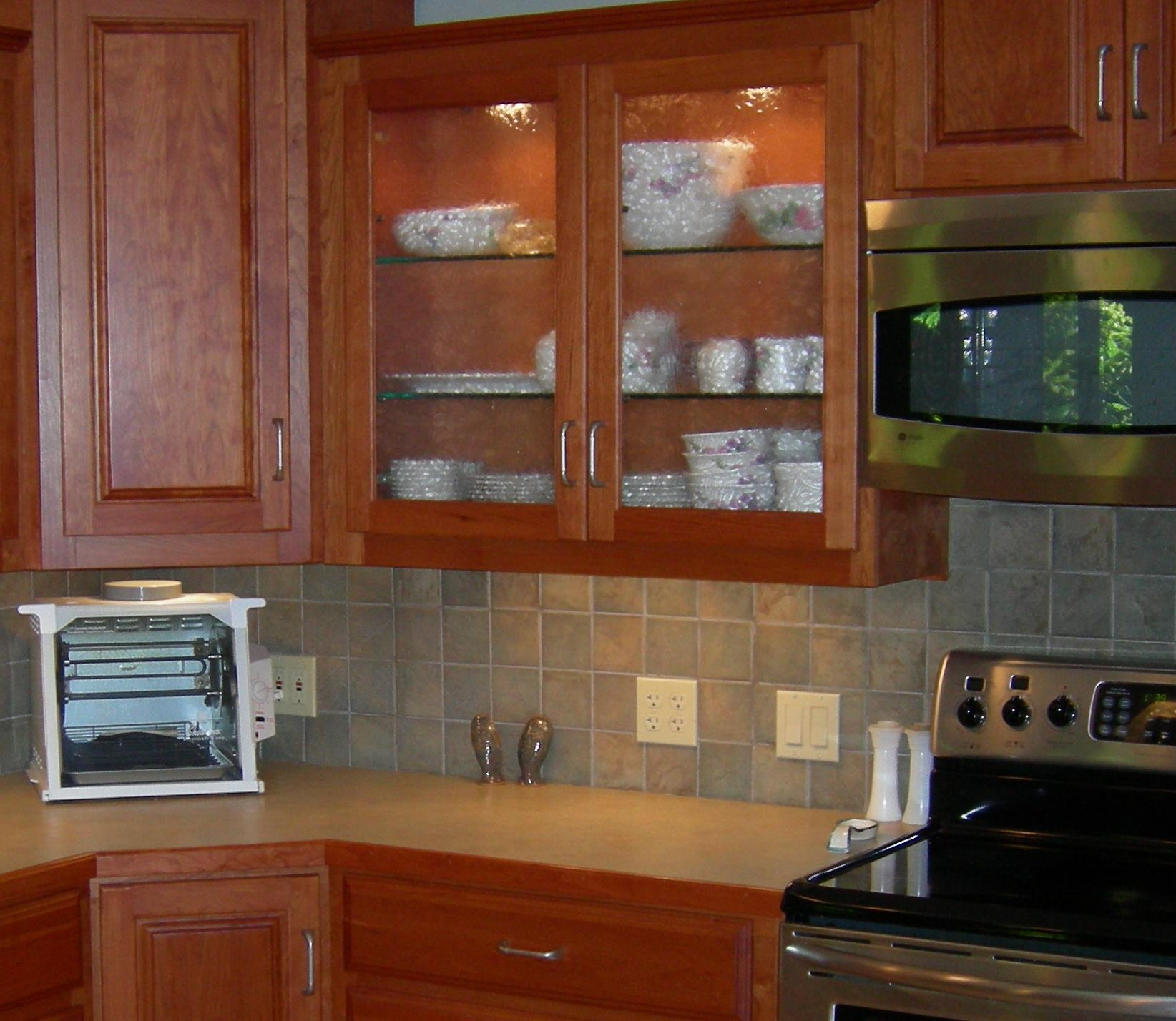 Curved Glass Kitchen Cabinets