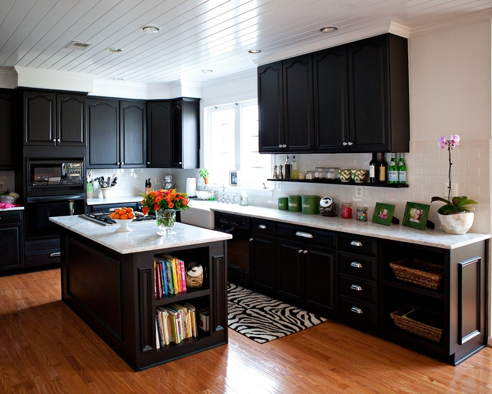Dark Wood Laminate Kitchen Cabinets