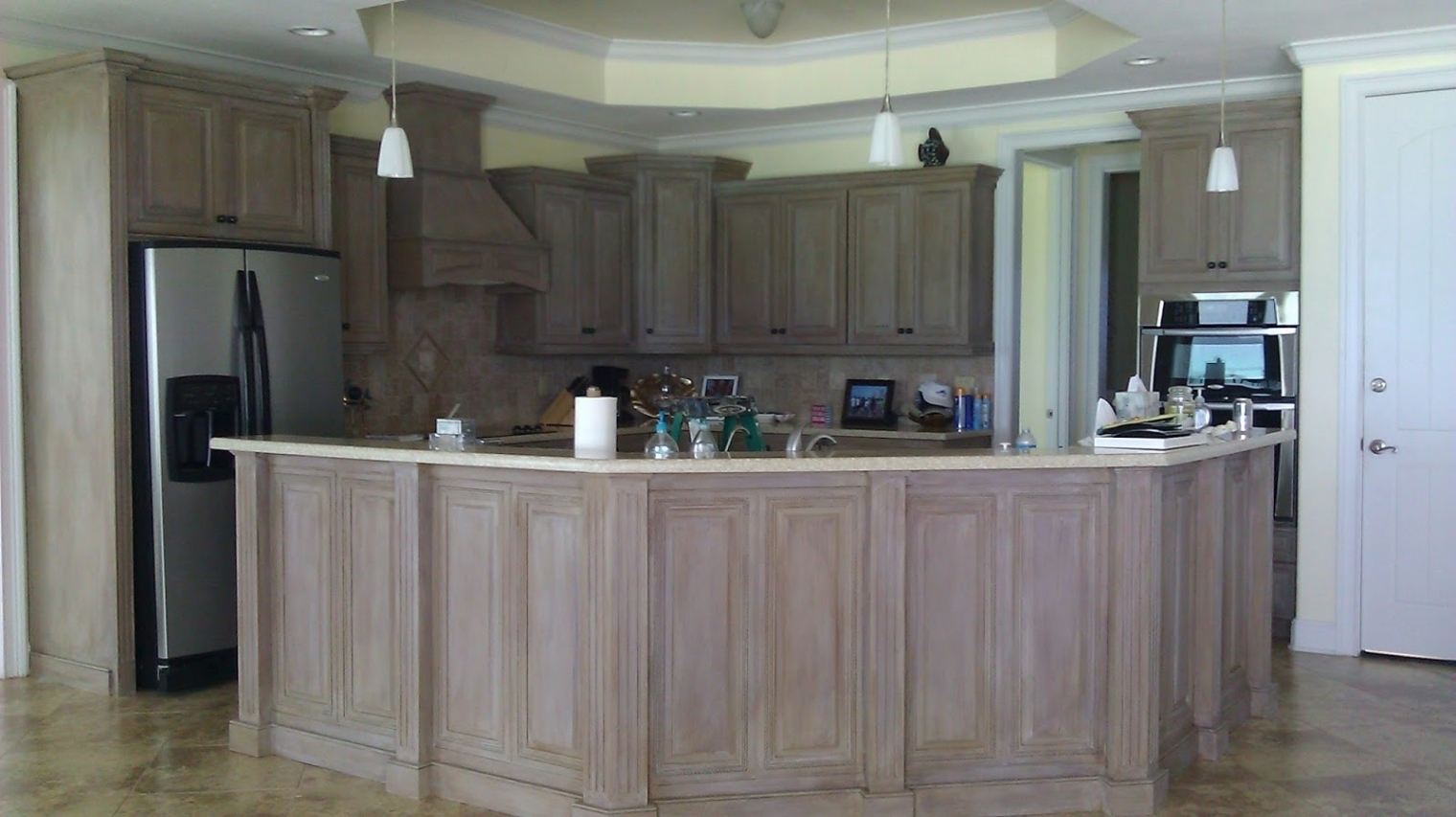 Driftwood Gray Kitchen Cabinets
